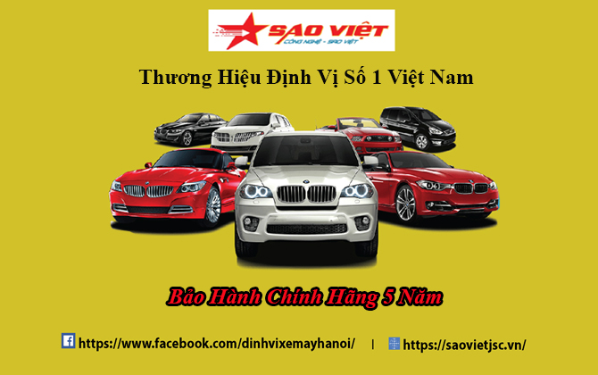 Định vị ô tô Sao Việt Bảo hành chính hãng 5 năm